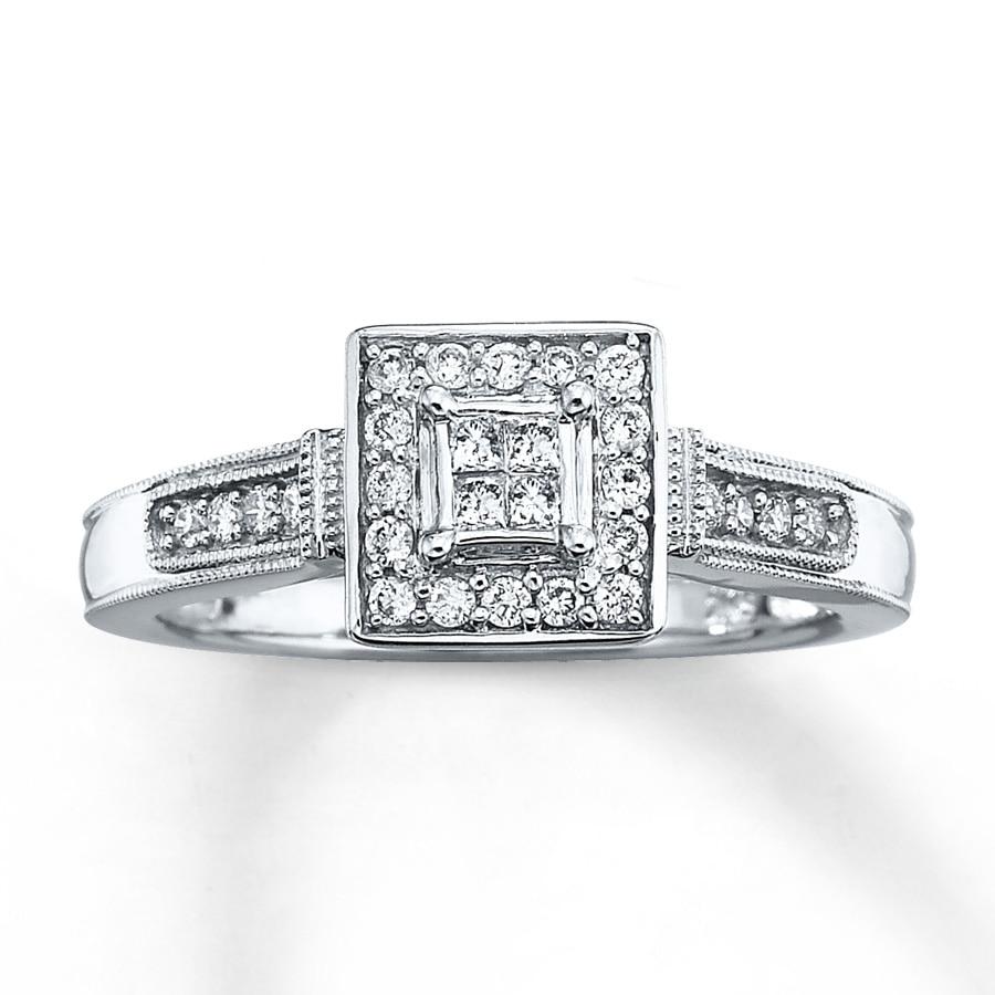 engagement ring 1 4 ct tw princess cut 10k