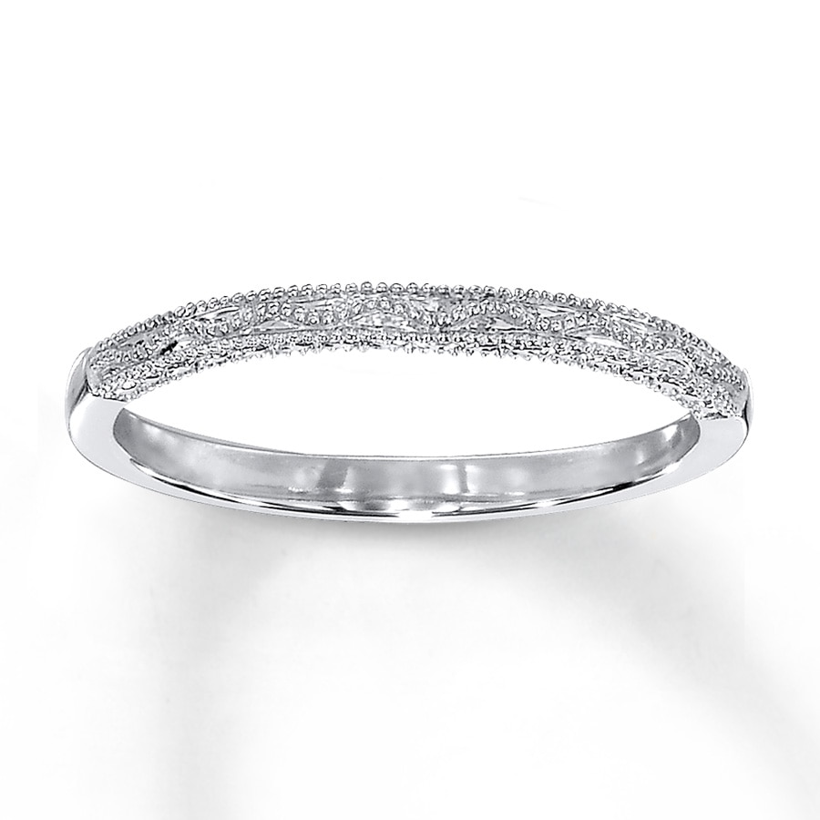 wedding band 10k white gold