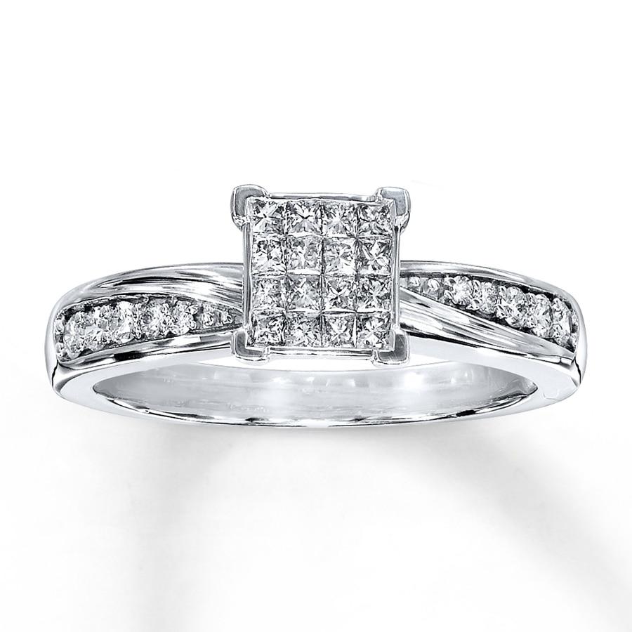 engagement ring 3 8 carat tw 10k white gold