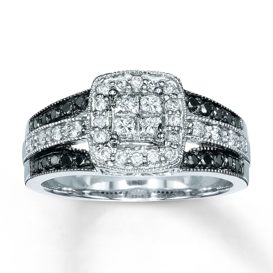 kay - diamond engagement ring 5/8 ct tw diamonds 14k white gold