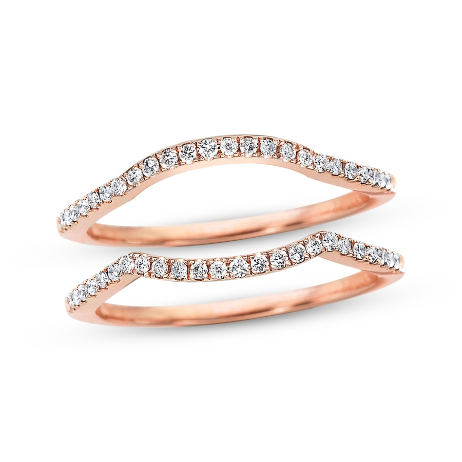 Diamond Wedding Bands 14 Ct Tw Roundcut 14k Rose Gold: Kays Diamond Wedding Bands At Websimilar.org