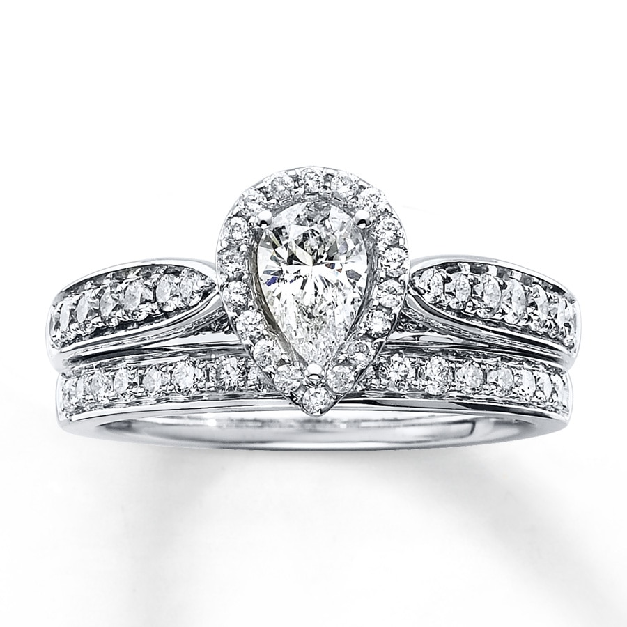 wedding rings engagement pear depot diamond shaped