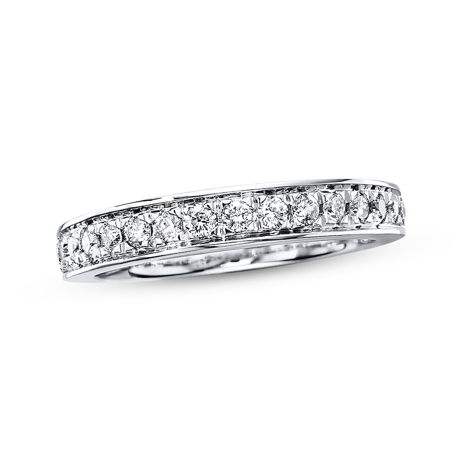Diamond Wedding Ring 3 8 Ct Tw Round Cut 14k White Gold