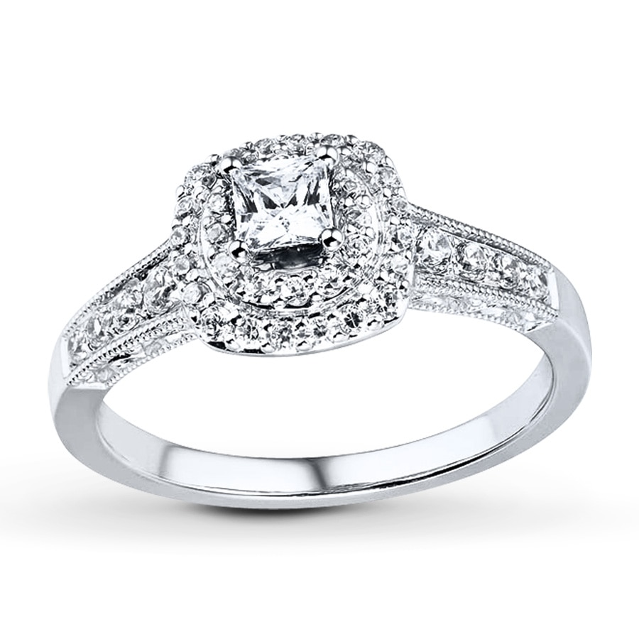 Kay Engagement Ring 5 8 ct tw Diamonds 14K White Gold