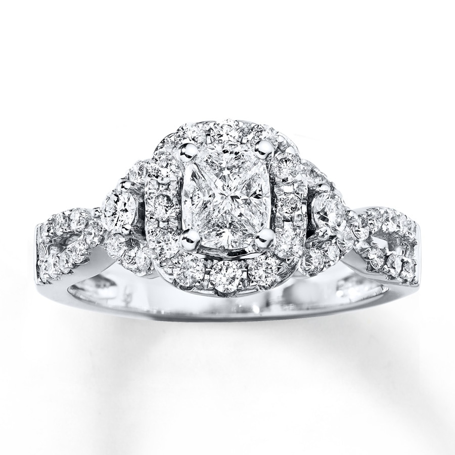 Kay Diamond Engagement Ring 3 4 carat tw 14K White Gold