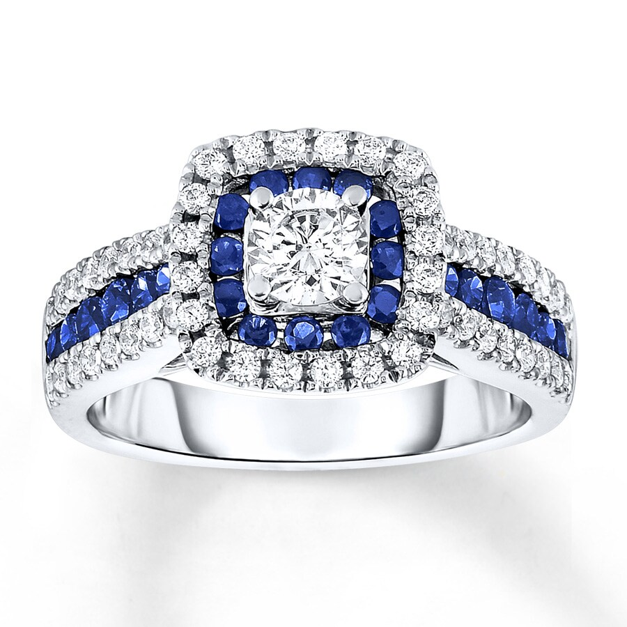band sapphire wedding cut with emerald satin white and safire tension set engagement finish products rings titanium ring