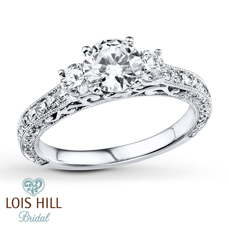 kay lois hill bridal ring 1 1 2 ct tw diamonds 14k white With lois hill wedding rings