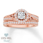 Lois Hill Bridal 1 ct tw Diamonds 14K Rose Gold Set