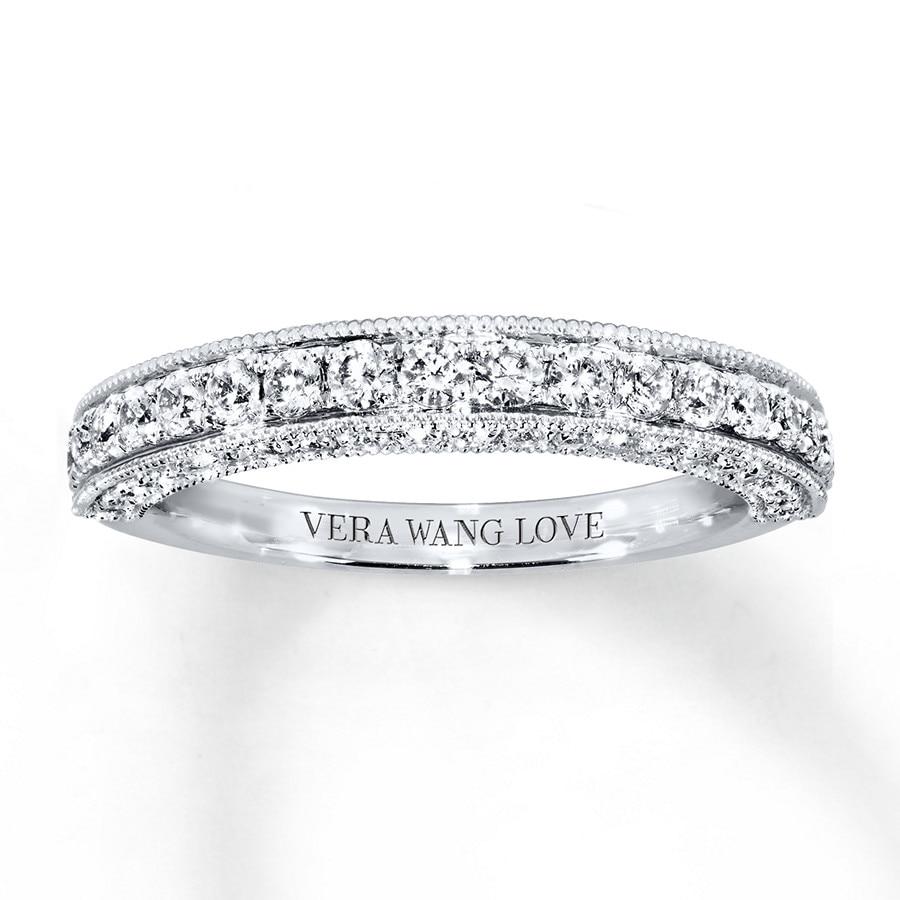 vera wang wedding band 3 4 ct tw diamonds 14k