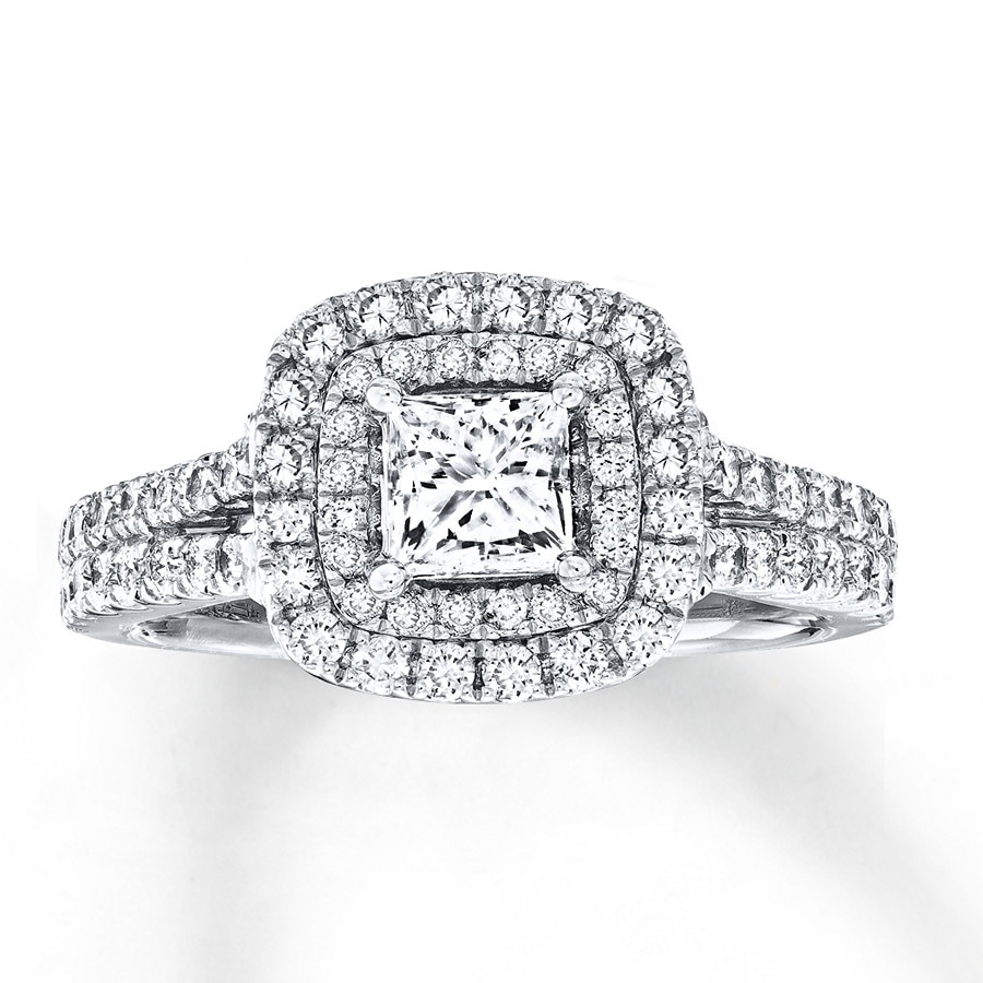 Kay Jewelers Vera Wang LOVE 2 Carat tw Diamonds 14K White Gold Ring Dcld3m