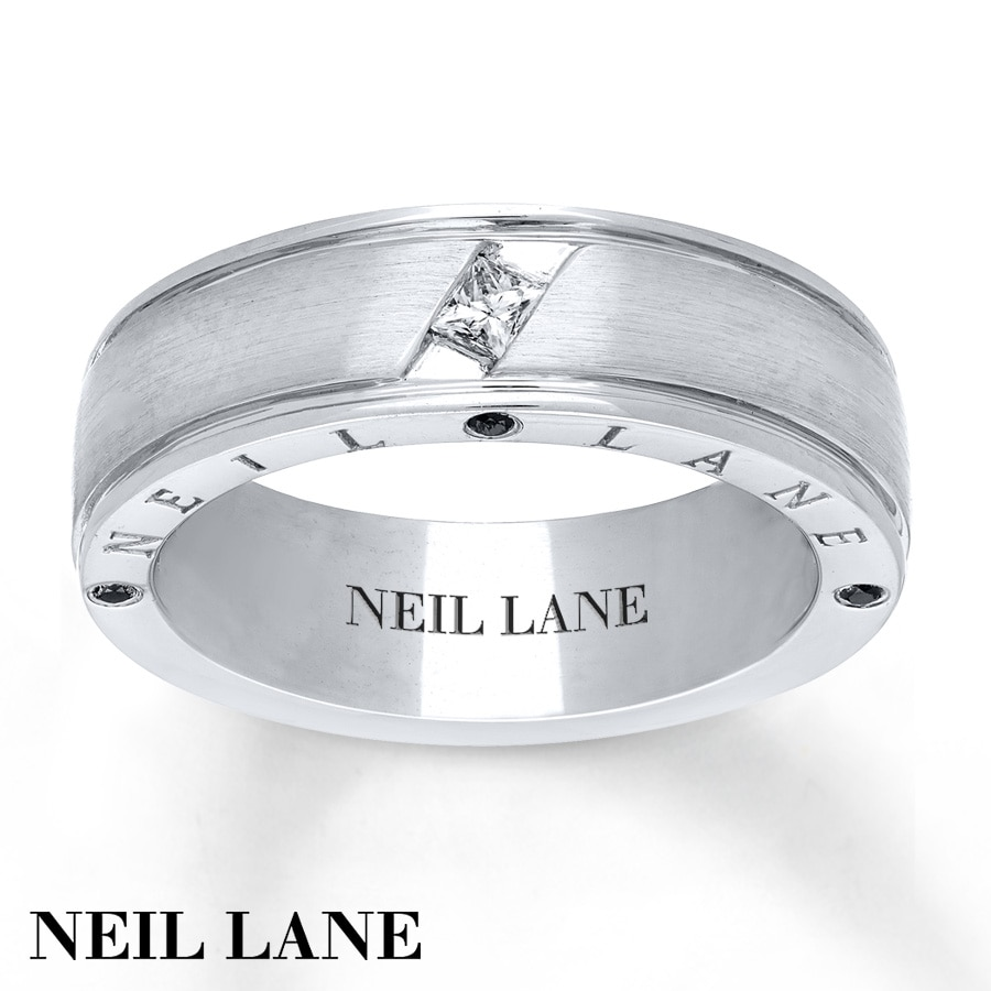 kay - neil lane men's ring 1/5 ct tw diamonds 14k white gold