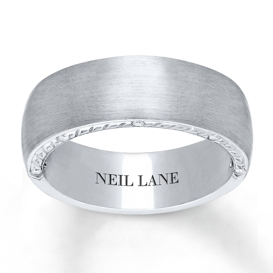 kay - neil lane men's ring 1/15 ct tw diamonds 14k white gold