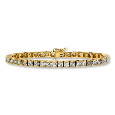Diamond Bracelet 3 ct tw Round-cut 14K Yellow Gold Kay Jewelers