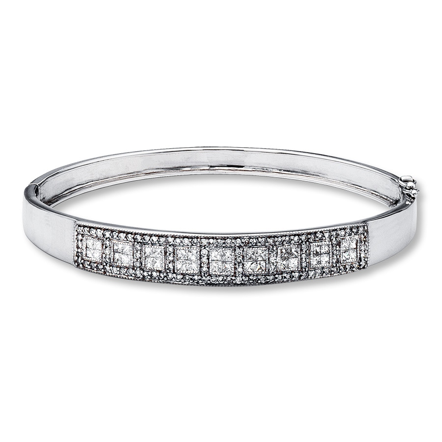one jewellery classic oval diamond pav bracelet row bangle bracelets de category bangles beers half