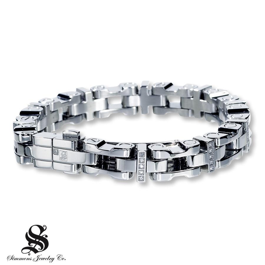 s bracelet 1 4 ct tw cut stainless