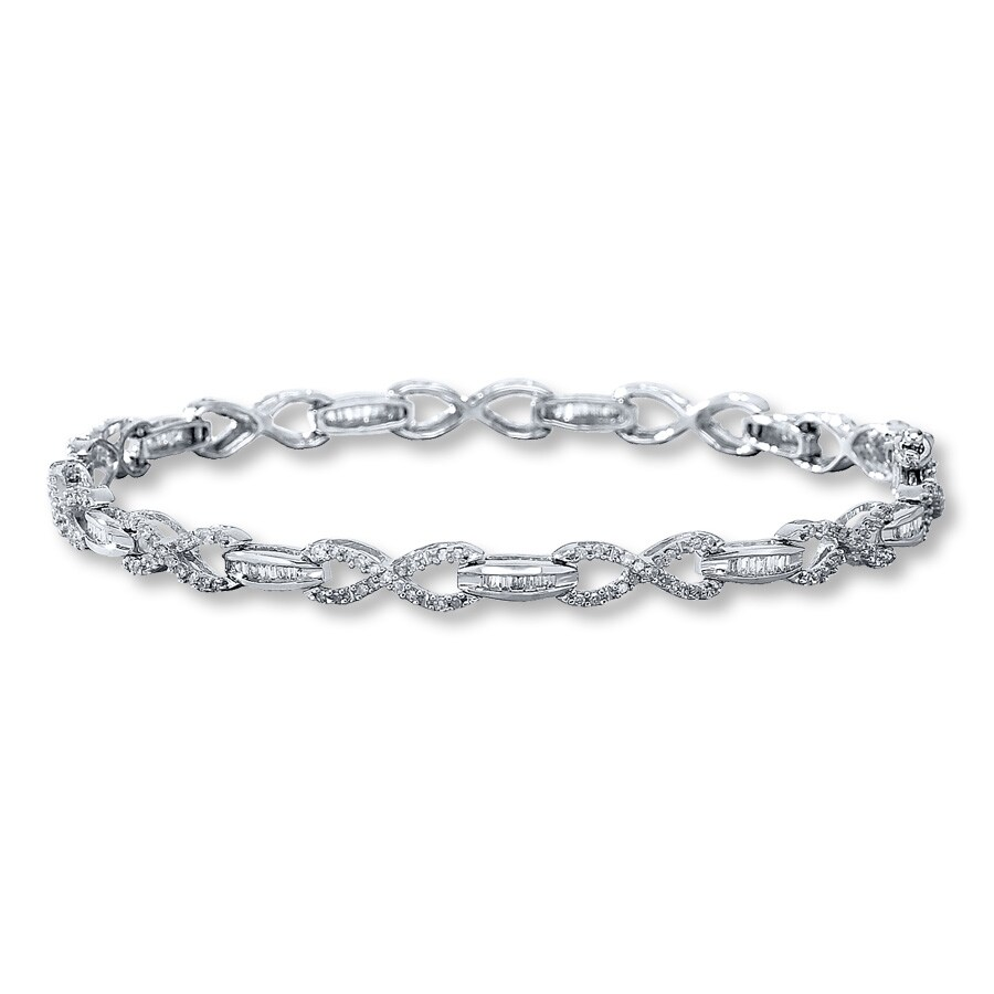 Diamond Bracelet 1 Ct Tw Diamonds 10k White Gold