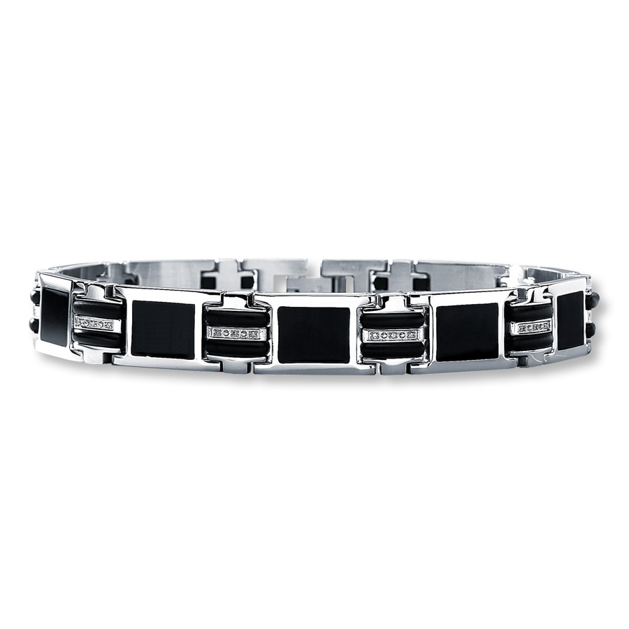 mens bracelet black img crown