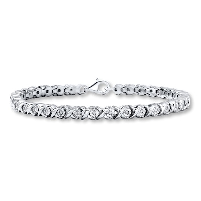 Diamond Bracelet 1/3 ct tw Round-cut Sterling Silver Kay Jewelers