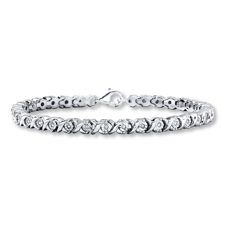 Diamond Bracelet 1 3 Ct Tw Round Cut Sterling Silver