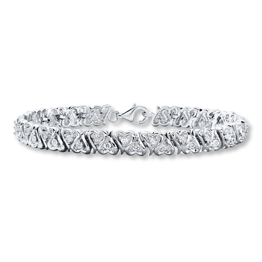 zirconia jewelry cut cubic diamond silver sterling com amazon rhodium round bracelet inch bangles bangle dp tennis
