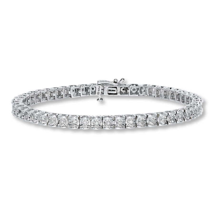 zirconia sterling diamond bracelets womens image tennis bracelet eternity silver jewellery inches cubic