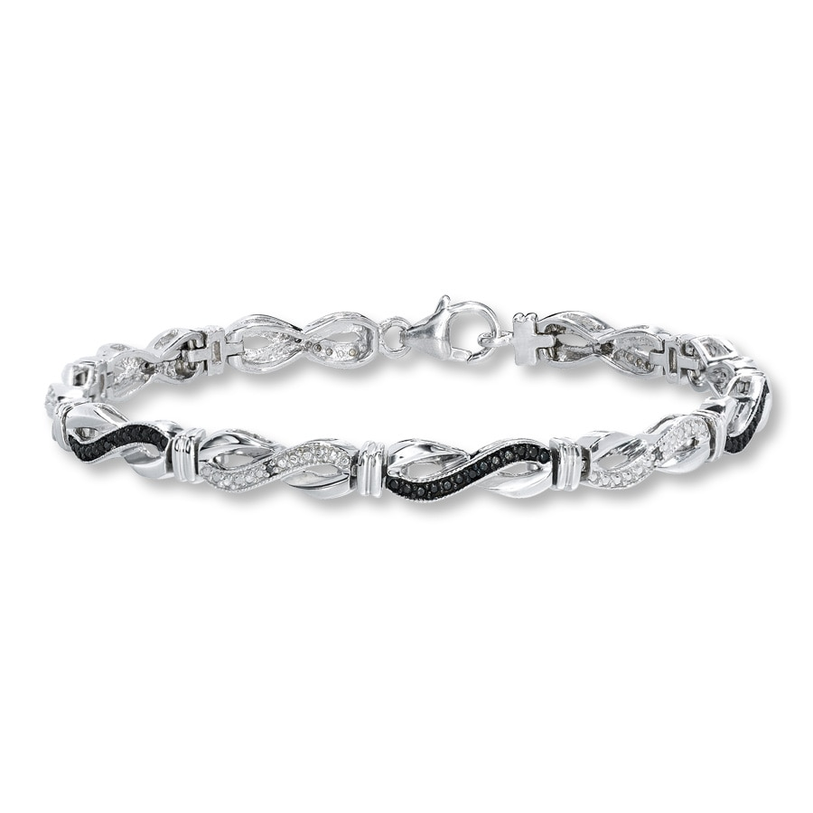 Black Diamond Bracelet 1 20 Ct Tw Diamonds Sterling Silver
