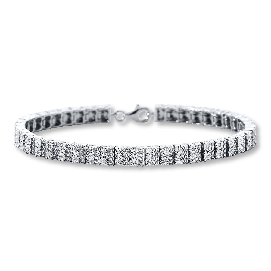 Diamond Bracelet 1 4 Ct Tw Round Cut Sterling Silver