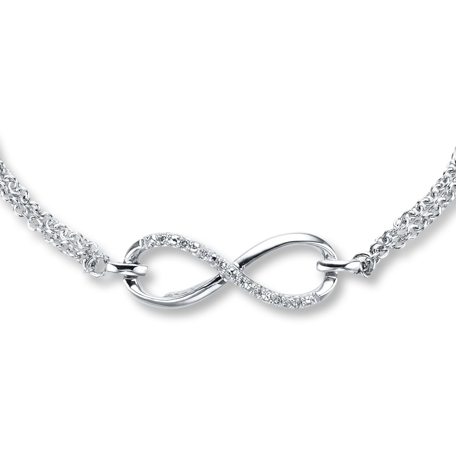 Kay diamond infinity bracelet sterling silver hover to zoom biocorpaavc Image collections