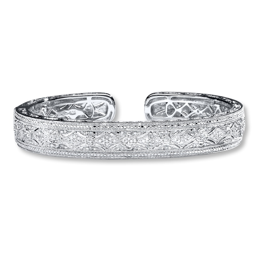 Bangle Bracelet 1 4 Ct Tw Diamonds Sterling Silver