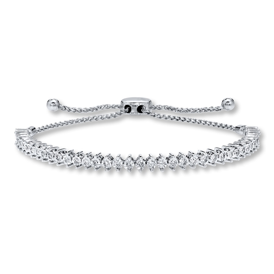 rose link infinity diamond collection v amanda width bolo in sterling bracelet p silver tw