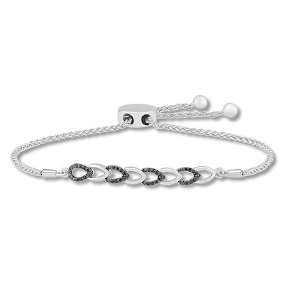 Reversible Diamond Bolo Bracelet 1/4 ct tw Sterling Silver