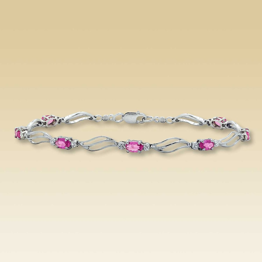 bracelet jewellery gold products luke sapphire pink rolling p rock rose