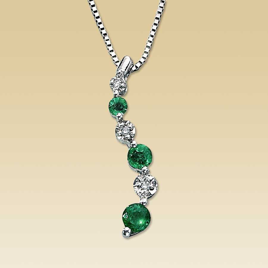 emerald ct natural necklace jared pendant diamonds l tw
