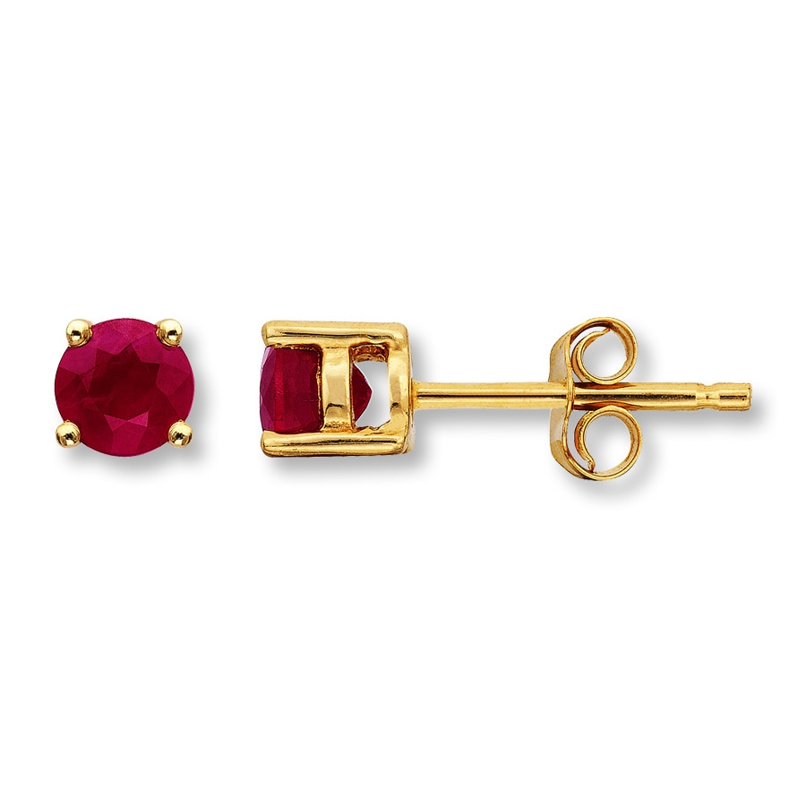 natural ruby com beautiful dp earrings and mined earth studs emerald stud amazon