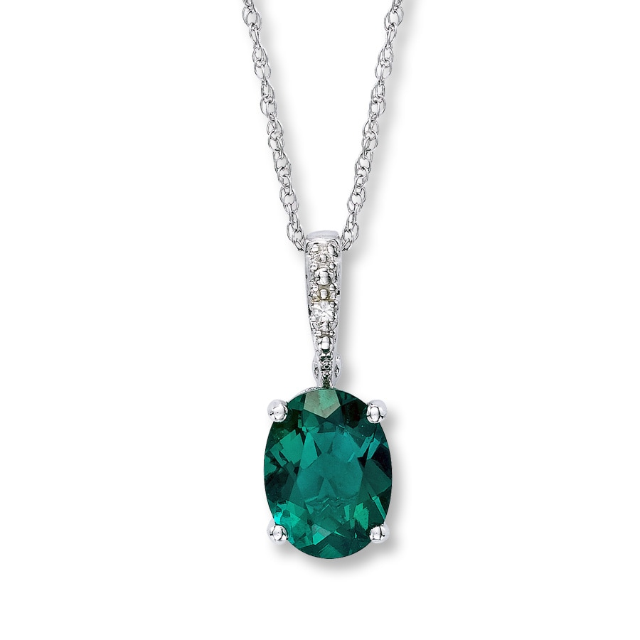 jewelry emerald zoe lev diamond necklace