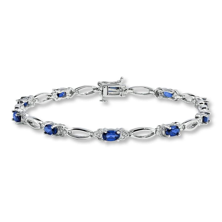 goo ct cut sterling tw round blue kay idea diamond jewelers pretentious bracelet silver