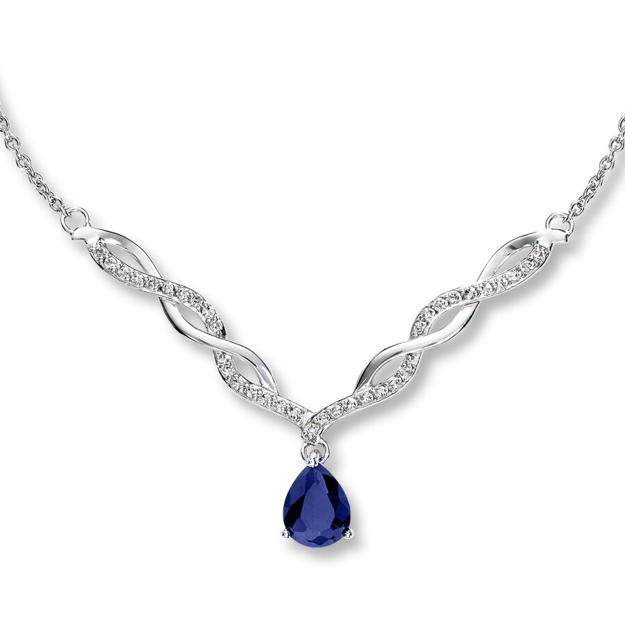 sterling necklace zirconia diamondust with david swarovski deyong image by silver teardrop small made