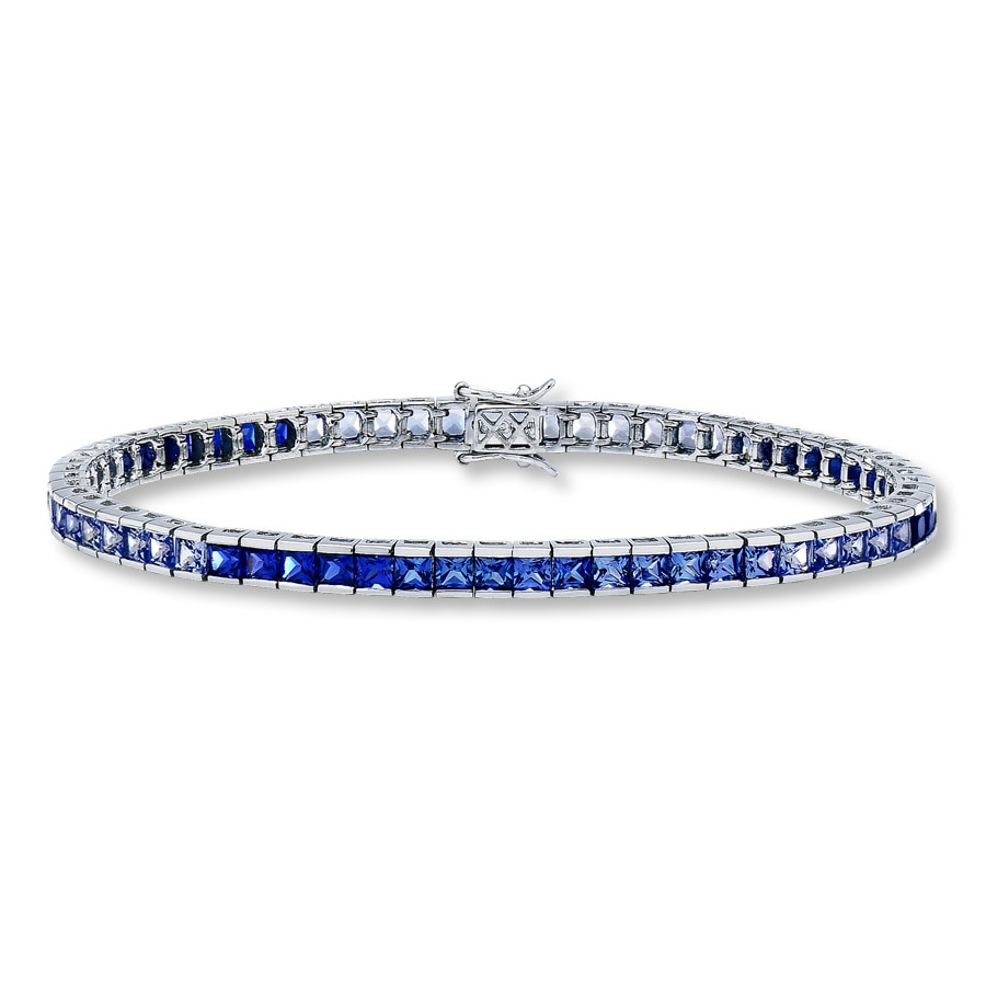 bracelet blue jewelry color gr cz bling sh tennis sapphire