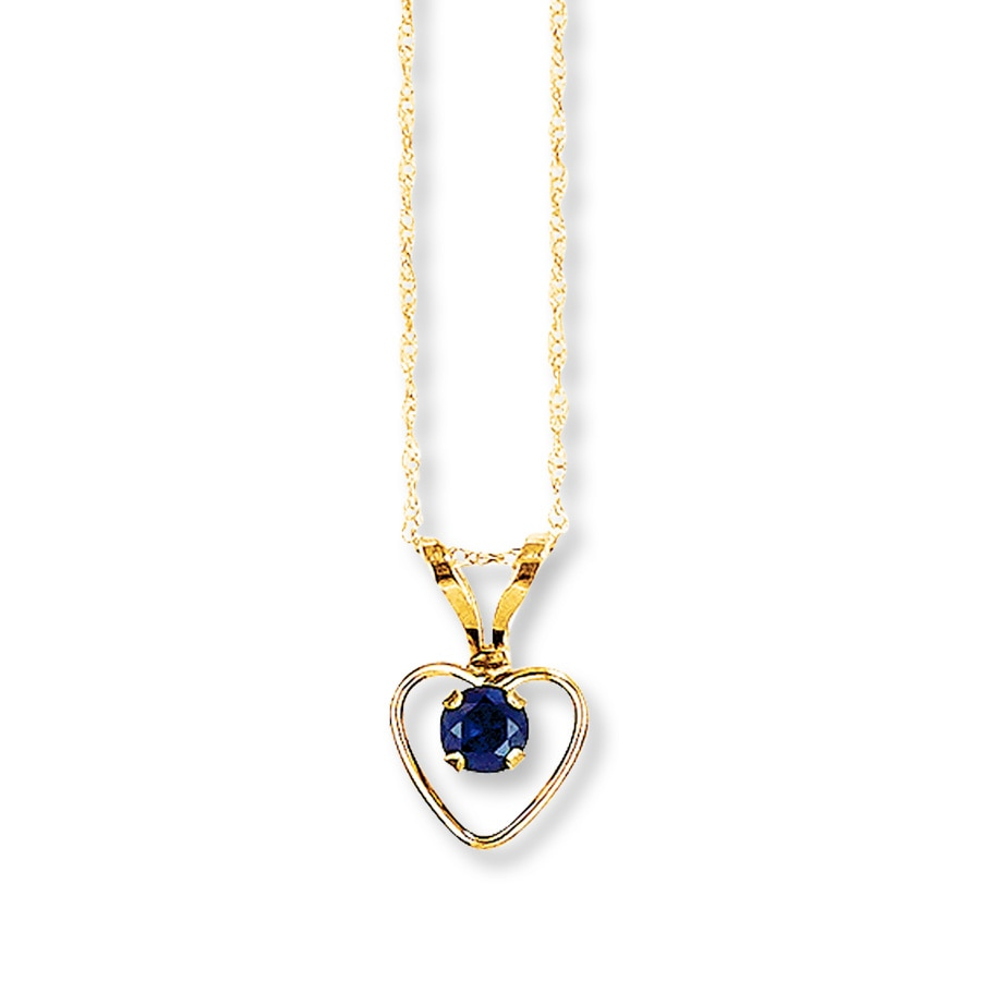 Sapphire Heart Necklace 14k Yellow Gold 132988700 Kay