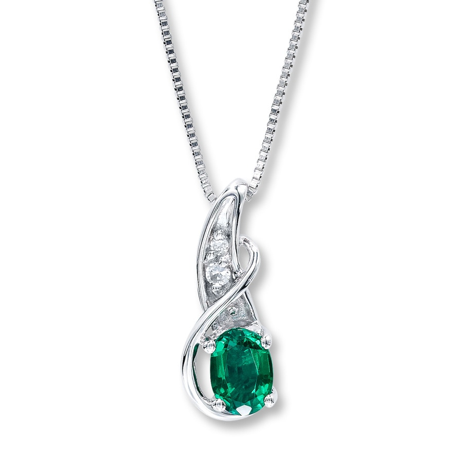 diamond emerald gold necklace diamonds vala white round