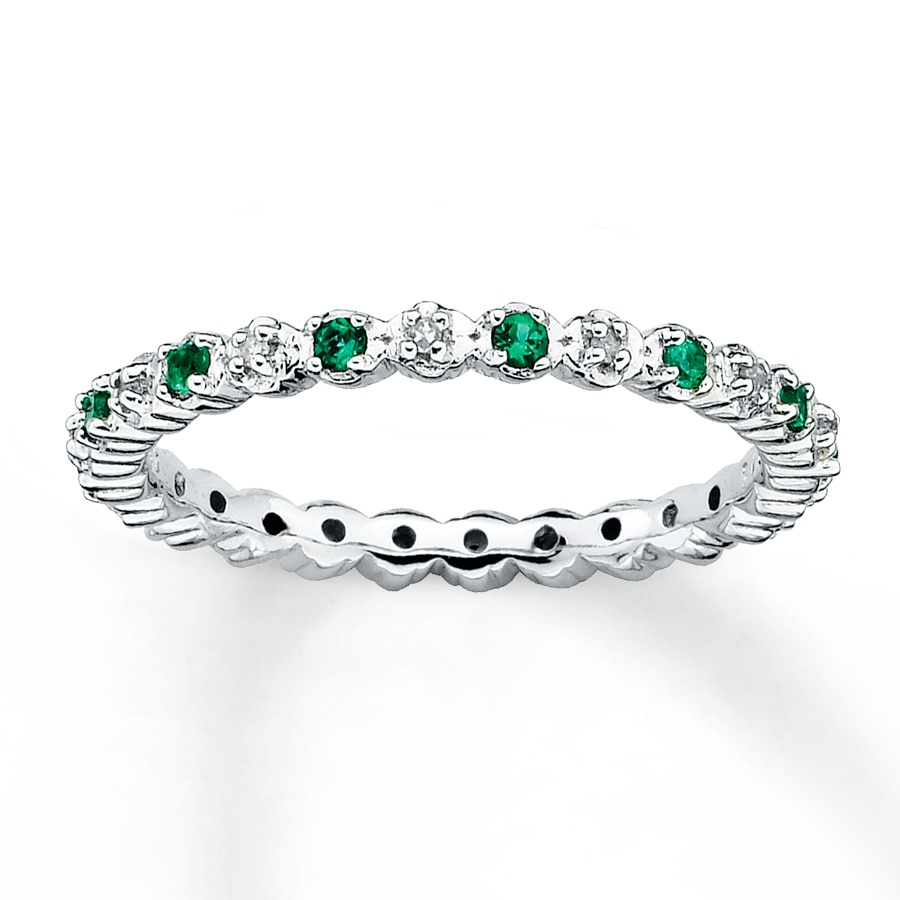 band cut emerald brilliant s and cz infinity eternity eve stackable bands addiction