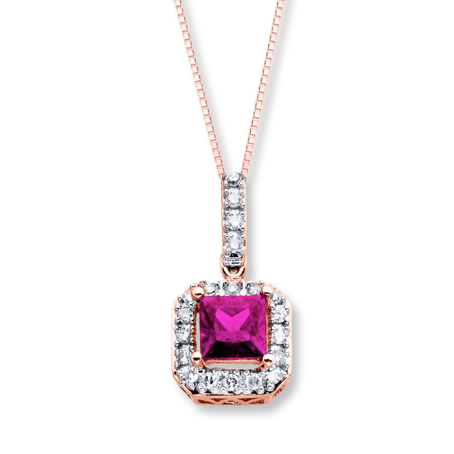 rose diamond sterling butterfly silver product created xpy heart sapphire gold pink and necklace accent pendant