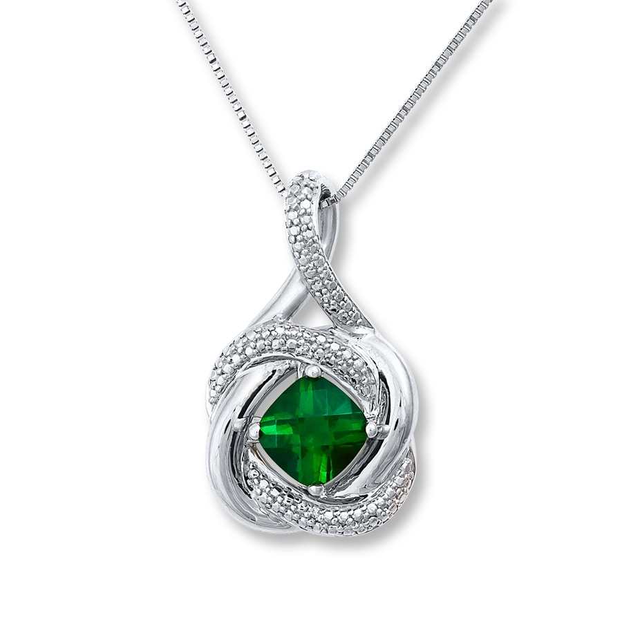 Amazon.com: Emerald Silver Pendant