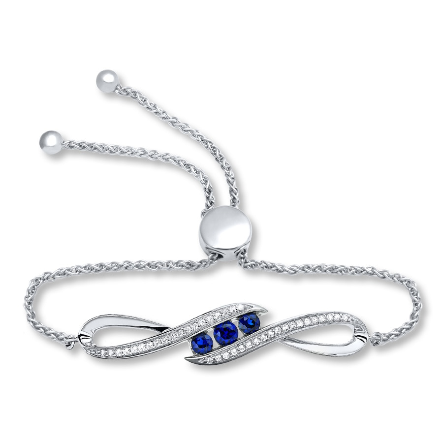 diamond silver bolo charm topaz product bracelet of shades blue sterling