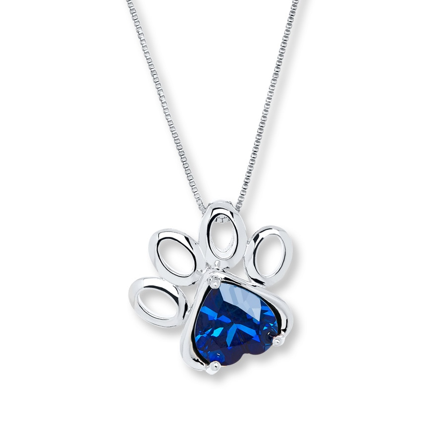 click expand lab necklace print zm sterling paw created kay to en silver kaystore sapphire mv