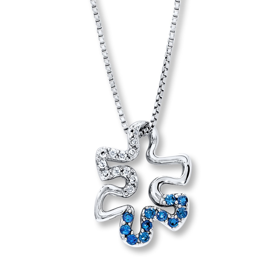 silver product sapphire charmed by necklace original jigsaw lily lilycharmed puzzle with