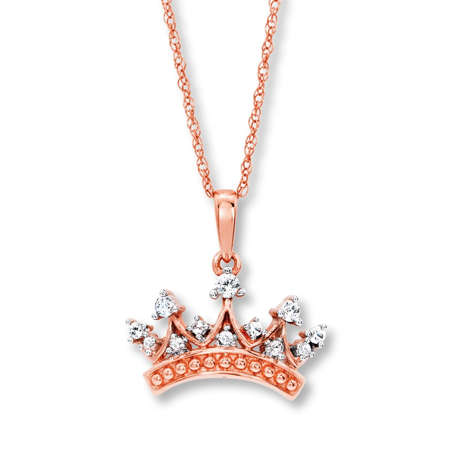 white pinterest diamond want set pin crown gold pendant