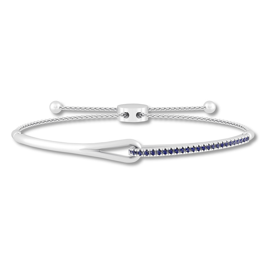 ab50560eca399f Love + Be Loved Lab-Created Sapphire Bracelet Sterling Silver ...