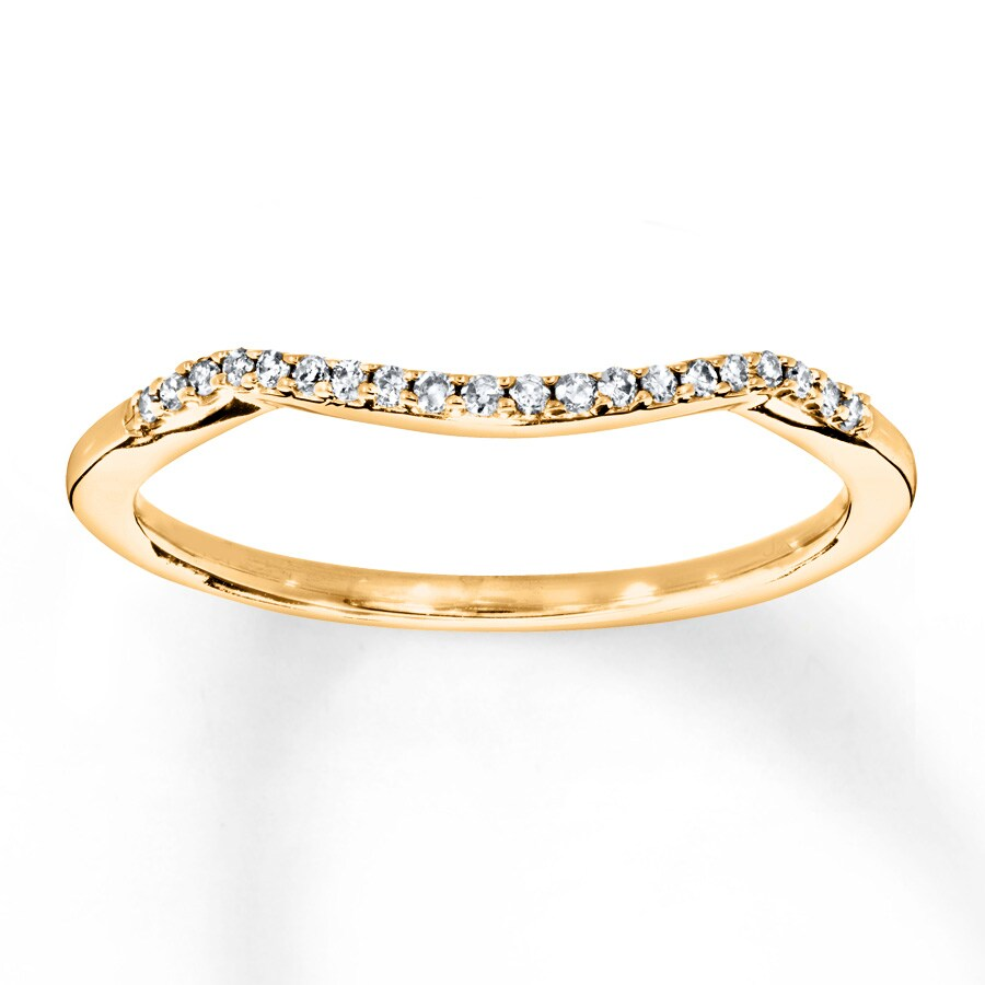 Diamond Wedding Band 1/15 ct tw 10K Yellow Gold