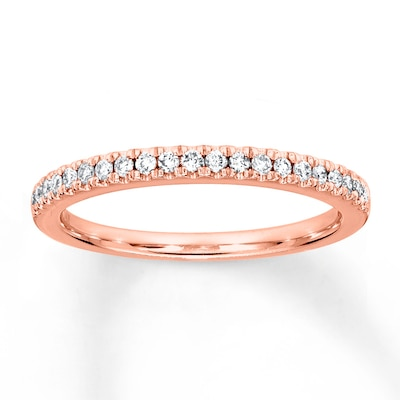 Diamond Wedding Band 1/6 ct tw 14K Rose Gold